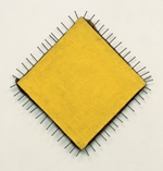 Günther Ueker, Das gelbe Bild (Yellow Painting), 1958, private collection, © Günther Ueker/2008 Artists Rights Society (ARS), New York/VG Bild-Kunst, Bonn, photo courtesy of the artist