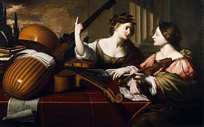 Nicolas Regnier, Divine Inspiration of Music, from the William Randolph Hearst Collection
