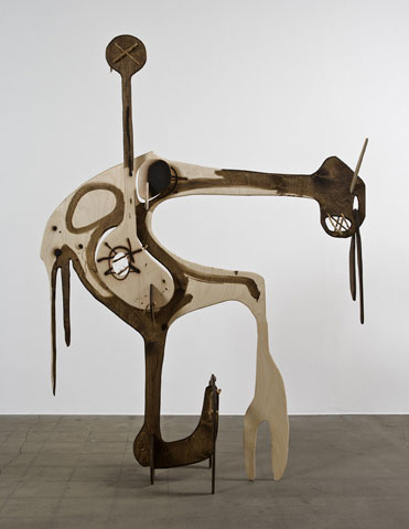 Aaron Curry, Pierced Line (Brown Goblinoid), 2008, courtesy of David Kordansky Gallery