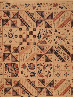 Woman's Skirt Cloth (Kain panjang), Java, probably Cirelon, late nineteenth century, cotton plain weave with hand-drawn wax resist dyeing (batik tulis), Mary Hunt Kahlenberg Collection