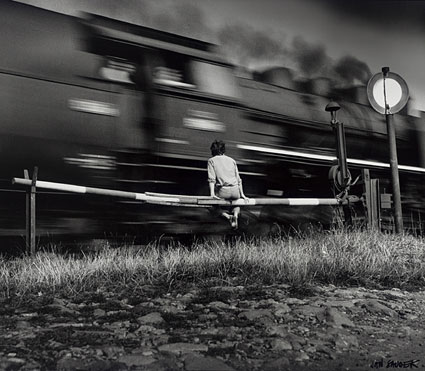 "Jan Saudek, ""Train Passing,"" 1977, gift of Graham and Susan Nash"