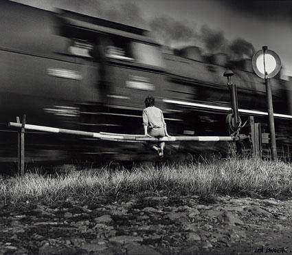 "Jan Saudek, ""Train Passing,"" 1977, gift of Graham and Susan Nash"