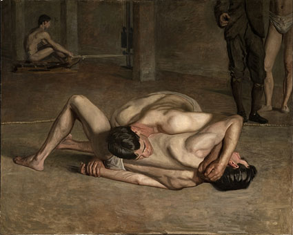 "Thomas Eakins, ""Wrestlers,"" 1899, Gift of Cecile C. Bartman and The Cecile and Fred Bartman Foundation"