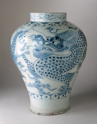 Korea, probably Kwangju, South Cholla Province, Jar with Dragon and Clouds, Joseon dynasty (1392–1910), eighteenth century, purchased with museum funds