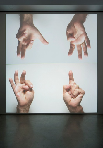 Bruce Nauman, For Beginners (all the combinations of the thumb and fingers), 2010, image courtesy Sperone Westwater, New York, © 2011 Bruce Nauman / Artists Rights Society (ARS), New York