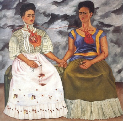 las dos fridas the two fridas Las dos fridas/self-portrait the two fridas, museo de arte moderno, mexico city 1939 shortly after her divorce from diego rivera, frida completed this self-portrait.
