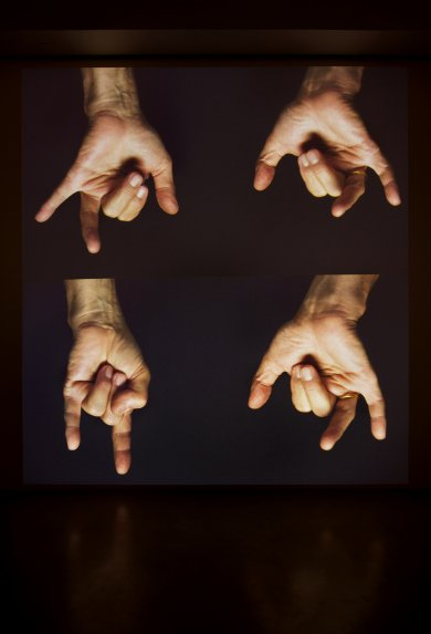 Bruce Nauman, For Beginners (all the combinations of the thumb and fingers), 2010, collection of the Los Angeles County Museum of Art and Artis, image courtesy Sperone Westwater, New York, © Bruce Nauman/Artists Rights Society (ARS), New York,