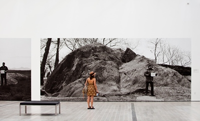 Installation view, Michael Heizer: Actual Size