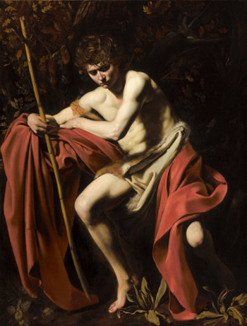 Caravaggio, Saint John the Baptist in the Wilderness, 1604-1605, The Nelson Atkins Museum of Art, Kansas City, William Rockhill Nelson Trust