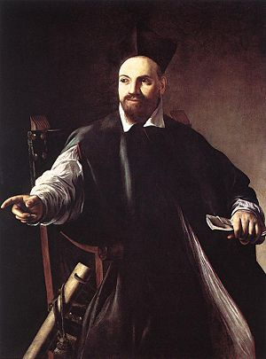 Caravaggio, Portrait of Maffeo Barberini, c. 1598, oil on canvas, private collection.