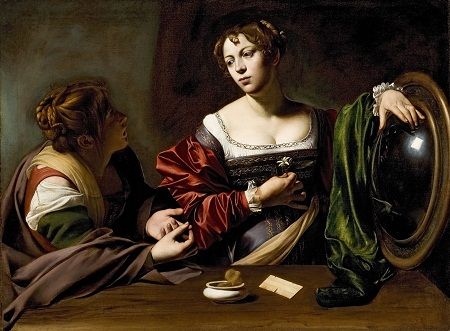Michelangelo Merisi da Caravaggio, Martha and Mary Magdalene, c. 1598, Detroit Institute of Arts, gift of The Kresge Foundation and Mrs. Edsel B. Ford, photo © 2012 Detroit Institute of Arts, all rights reserved