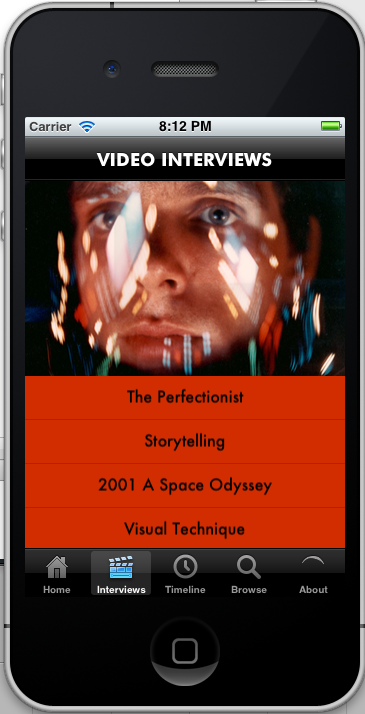 Stanley Kubrick App for iPhone/iPad