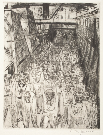 Franz Maria Jansen, Untitled, 1921, from the portfolio Industrie 1920 (Industry 1920), The Robert Gore Rifkind Center for German Expressionist Studies, purchased with funds provided by Anna Bing Arnold, Museum Associates Acquisition Fund, and deaccession funds