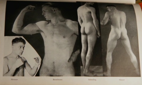 "German boxing legend Max Schmeling and other athletes in ""Der Querschnitt"" (Zeitgeist magazine published by art gallery owner Alfred Flechtheim, LACMA Rifkind archive)"