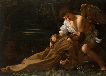 Michelangelo Merisi da Caravaggio, Saint Francis of Assisi in Ecstasy, c. 1595, Wadsworth Atheneum Museum of Art, Hartford, Connecticut, The Ella Gallup Sumner and Mary Catlin Sumner Collection Fund, photo © 2012 Wadsworth Atheneum Museum of Art