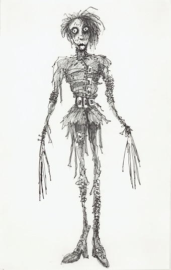 Tim Burton, Untitled (Edward Scissorhands), 1990, private collection, Edward Scissorhands © Twentieth Century Fox, © 2011 Tim Burton