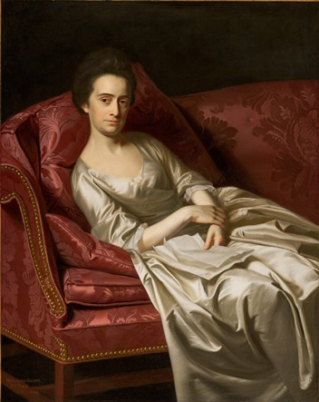 After Treatment: John Singleton Copley, Portrait of a Lady, 1771, purchased with funds provided by the American Art Council, Anna Bing Arnold, F. Patrick Burns Bequest, Mr. and Mrs. William Preston Harrison Collection, David M. Koester, Art Museum Council, Jo Ann and Julian Ganz, Jr., The Ahmanson Foundation, Ray Stark, and other donors, photo by Yosi Poseilov, © 2013 Museum Associates/LACMA