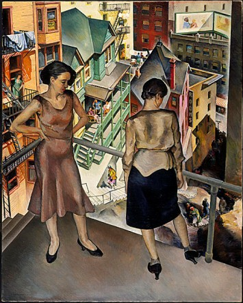 Millard Sheets, Angel's Flight, 1931, gift of Mrs. L. M. Maitland