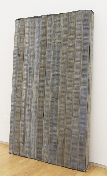 •Theaster Gates, Civil Tapestry (Dirty Blue), 2012, promised gift of Grazka Taylor through Contemporary Friends, 2012