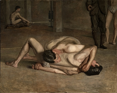 Thomas Eakins, Wrestlers, 1899, gift of Cecile C. Bartman and the Cecile and Fred Bartman Foundation