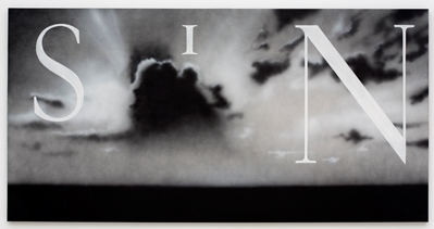 Ed Ruscha, Sin/Without, 1990, purchased with funds provided by the Modern and Contemporary Art Council and the National Endowment for the Arts, © 2012 Edward J. Ruscha IV. All rights reserved. Photo © 2012 Museum Associates/LACMA