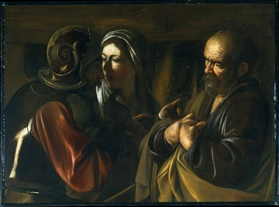 Michelangelo Merisi da Caravaggio, Denial of Saint Peter, 1610, The Metropolitan Museum of Art, New York, gift of Herman and Lila Shickman, and Purchase, Lila Acheson Wallace Gift, 1997