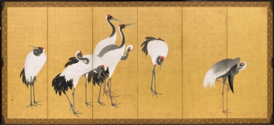 Maruyama Okyo, Cranes, 1772 (An'ei period, 1772-1780), gift of Camilla Chandler Frost in honor of Robert T. Singer