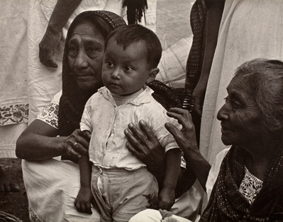 Edward Steichen, The Child Man, Mayan Indians, Mexico, 1938, gift of Richard and Jackie Hollander, © permission the Estate of Edward Steichen