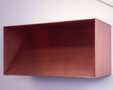 Donald Judd, Copper Wall Box, 1977, copper, 19 ¾ x 39 ¼ x 19 3/8 inches, Los Angeles County Museum of Art, gift of Robert H. Halff through the Modern and Contemporary Art Council