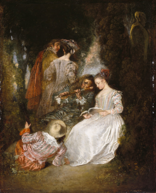 Jean-Antoine Watteau, The Perfect Accord, 1719, Gift of The Ahmanson Foundation