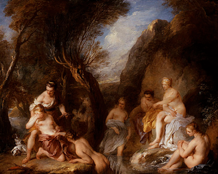 François Le Moyne, Diana and Callisto, 1723, Gift of The Ahmanson Foundation