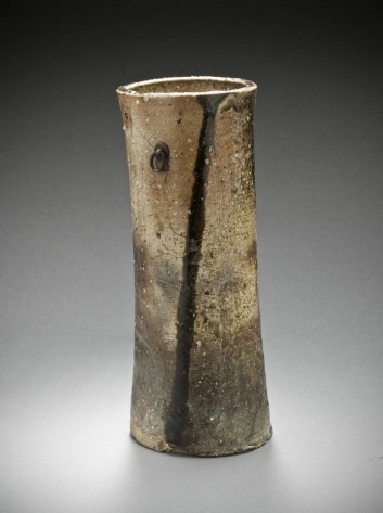 Iga Flower Vessel, Japan, Momoyama period, 1573-1615, gift of Camilla Chandler Frost