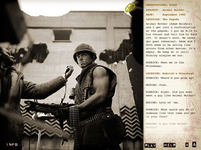 Screenshot from Full Metal Jacket Diary