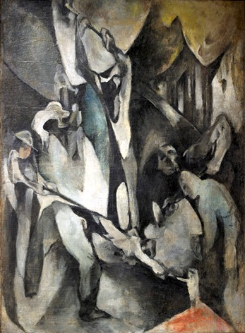 Hans Richter, Arbeiter (Workers), 1913, oil on canvas, private collection, © 2013 Hans Richter Estate