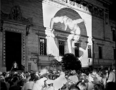 Frank Herrera, photograph of The Perfect Moment protest, June 30, 1989, Corcoran Gallery of Art, Washington, D.C. © Frank Herrera