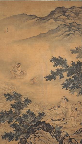 Li Zai, The Daoist Adept Qin Gao Riding a Carp, Ming dynasty, 15th century, Shanghai Museum