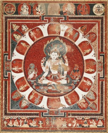 Jayateja (active Nepal), Mandala of Vishnu, Nepal, dated 1420, the Nasli and Alice Heeramaneck Collection, Museum Associates Purchase