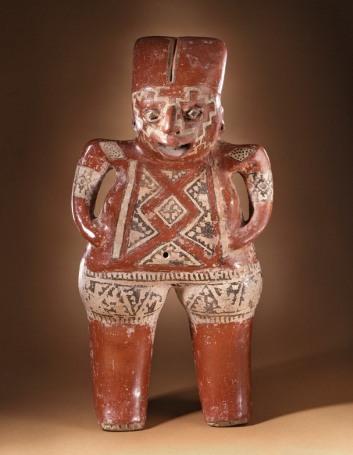 Standing Female Figure, Mexico, Guanajuato, Chupícuaro, 400-100 B.C., gift of Constance McCormick Fearing