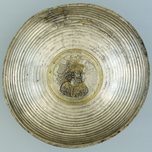 Plate with a Portrait Medallion of a KingIran, 224-651, anonymous gift