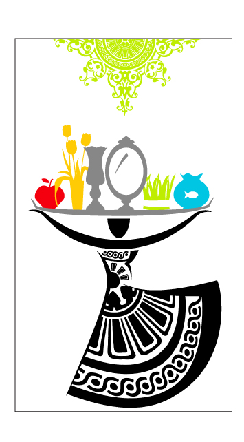 Sheida Koufigar, early design for Nowruz street banner