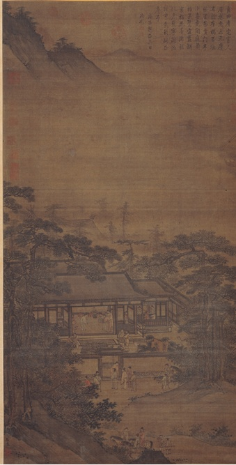 Zhou Wenjing, New Year's Day, Ming dynasty, 15th century, Shanghai Museum