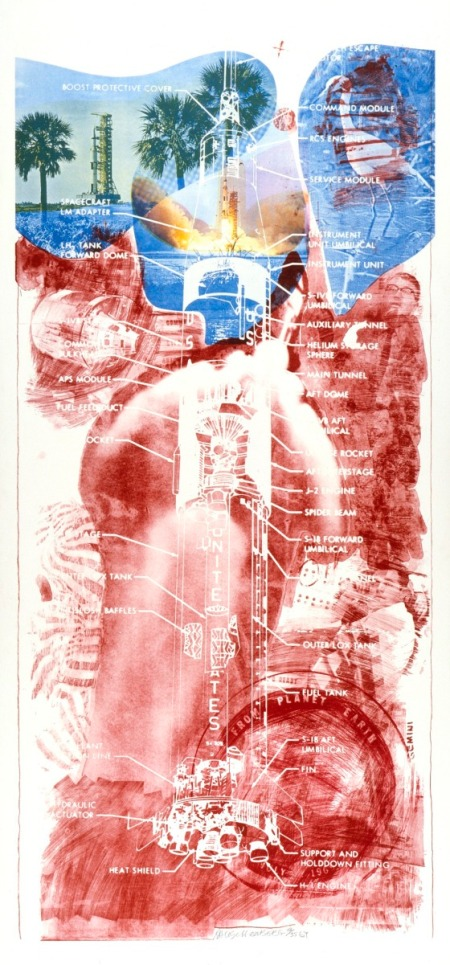 Sky Garden, Series: Stoned Moon, Robert Rauschenberg, United States, 1969, Gift of Drs. Katherina and Judd Marmor in honor of the museum's twenty-fifth anniversary