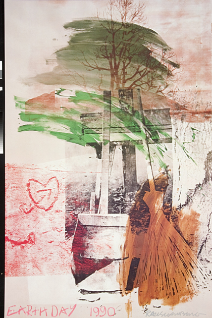 Earth Day 1990, Robert Rauschenberg, United States, 1990, Partial and promised gift of the Grinstein Family