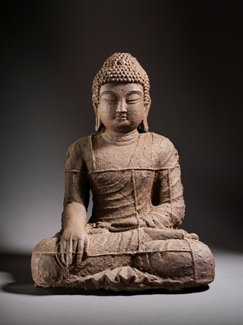 Seated Buddha, Korea, Goryeo dynasty, 10th century, gift of the 2013 Collectors Committee
