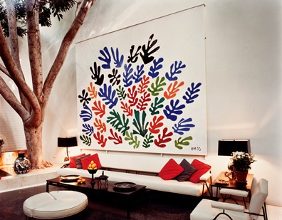 Henri Matisse, La Gerbe, 1953, installed in the Brody residence, gift of Frances L. Brody in honor of the museum's 25th anniversary, © 2013 Succession H. Matisse / Artists Rights Society (ARS), New York, NY, photo courtesy of the archives of Frances L. Brody
