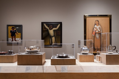 Installation view, Latin American art galleries