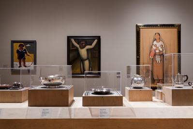 Installation view, Latin American art galleries