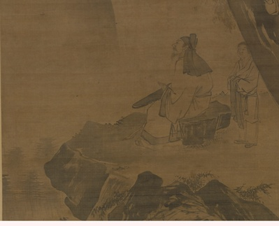 Wu Wei, Playing the Zither in a Pine Valley (detail), fifteenth to early sixteenth centuries, Shanghai Museum