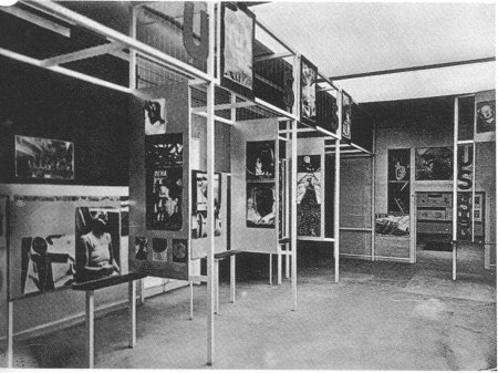 """The Russian Room at the 1929 """"FiFo"""" exhibition in Stuttgart."""