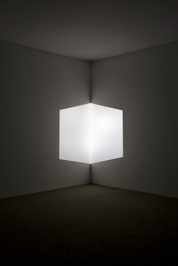 James Turrell, Afrum (White), 1966, Cross Corner Projection, LACMA, partial gift of Marc and Andrea Glimcher in honor of the appointment of Michael Govan as CEO and Wallis Annenberg Director and purchased with funds provided by David Bohnett and Tom Gregory through the 2008 Collectors Committee, © James Turrell, photo © 2013 Museum Associates LACMA
